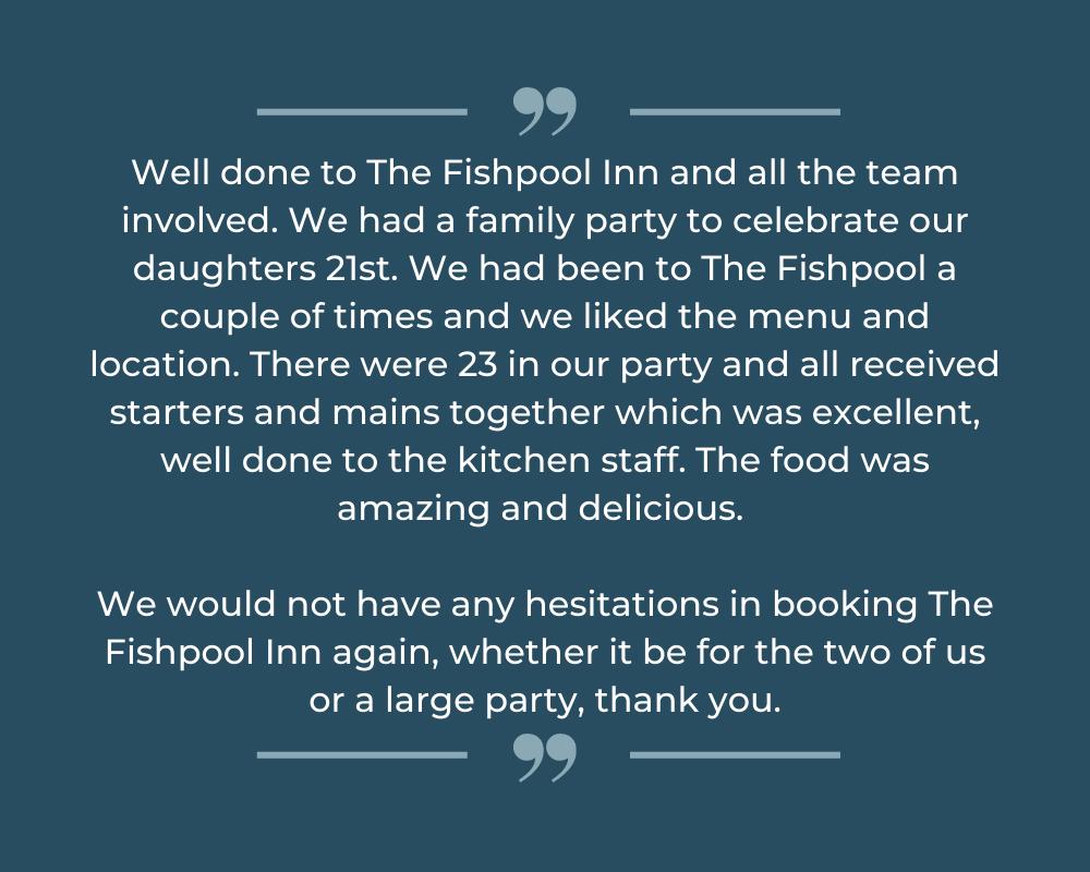 Fishpool Inn review